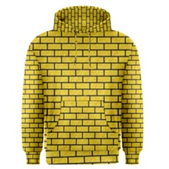 Brick1 Black Marble & Yellow Colored Pencil Men s Pullover Hoodie