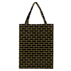 Brick1 Black Marble & Yellow Colored Pencil (r) Classic Tote Bag