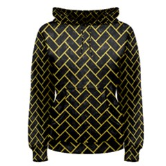 Brick2 Black Marble & Yellow Colored Pencil (r) Women s Pullover Hoodie