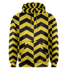 Chevron2 Black Marble & Yellow Colored Pencil Men s Pullover Hoodie