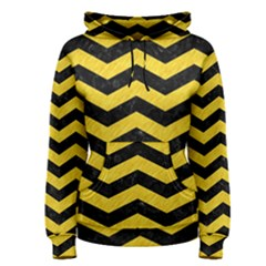 Chevron3 Black Marble & Yellow Colored Pencil Women s Pullover Hoodie