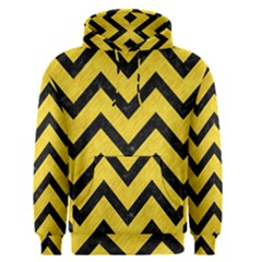 Chevron9 Black Marble & Yellow Colored Pencil Men s Pullover Hoodie