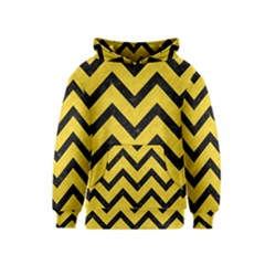 Chevron9 Black Marble & Yellow Colored Pencil Kids  Pullover Hoodie