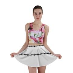 Barbed Wire Black Mini Skirt