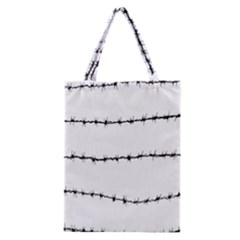 Barbed Wire Black Classic Tote Bag