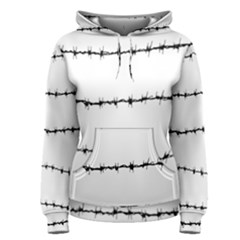 Barbed Wire Black Women s Pullover Hoodie
