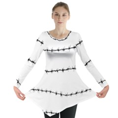 Barbed Wire Black Long Sleeve Tunic