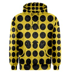 Circles1 Black Marble & Yellow Colored Pencil Men s Pullover Hoodie