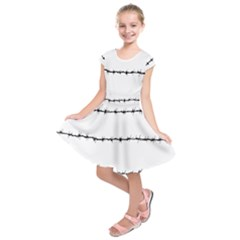 Barbed Wire Black Kids  Short Sleeve Dress