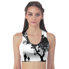 Black Father Daughter Natural Hill Sports Bra