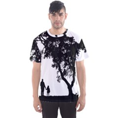 Black Father Daughter Natural Hill Men s Sports Mesh Tee