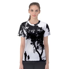 Black Father Daughter Natural Hill Women s Sport Mesh Tee