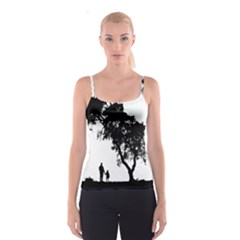 Black Father Daughter Natural Hill Spaghetti Strap Top