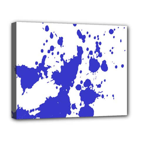 Blue Plaint Splatter Deluxe Canvas 20  X 16