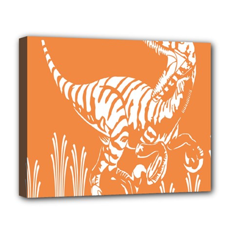Animals Dinosaur Ancient Times Deluxe Canvas 20  X 16
