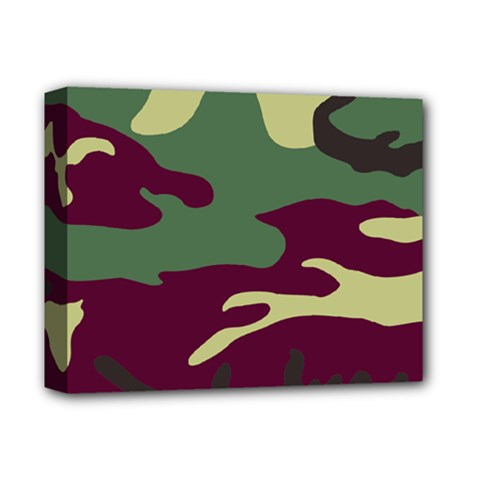Camuflage Flag Green Purple Grey Deluxe Canvas 14  X 11