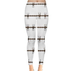 Barbed Wire Brown Leggings