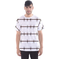 Barbed Wire Brown Men s Sports Mesh Tee