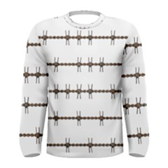 Barbed Wire Brown Men s Long Sleeve Tee