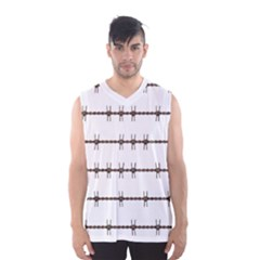 Barbed Wire Brown Men s Basketball Tank Top