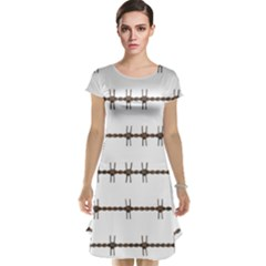 Barbed Wire Brown Cap Sleeve Nightdress