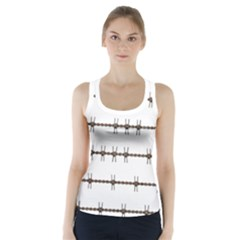 Barbed Wire Brown Racer Back Sports Top