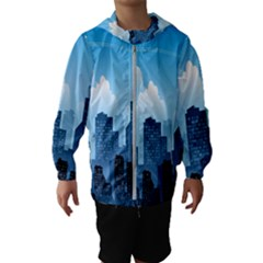 City Building Blue Sky Hooded Wind Breaker (kids)