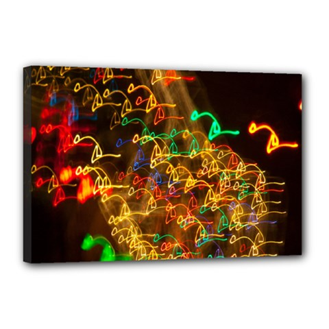 Christmas Tree Light Color Night Canvas 18  X 12