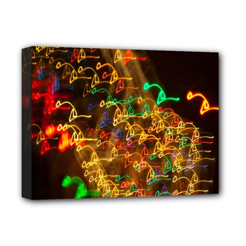 Christmas Tree Light Color Night Deluxe Canvas 16  X 12