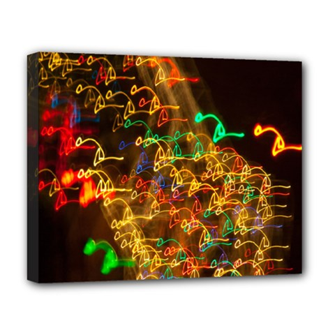 Christmas Tree Light Color Night Deluxe Canvas 20  X 16