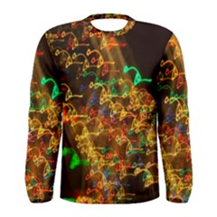 Christmas Tree Light Color Night Men s Long Sleeve Tee