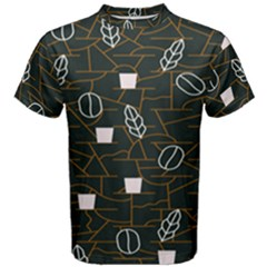 Espresso Cofee Glass Line Chevron Men s Cotton Tee