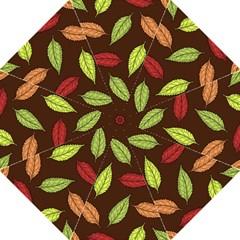 Autumn Leaves Pattern Hook Handle Umbrellas (large)