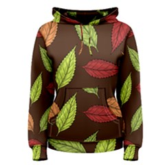 Autumn Leaves Pattern Women s Pullover Hoodie