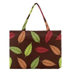 Autumn Leaves Pattern Medium Tote Bag