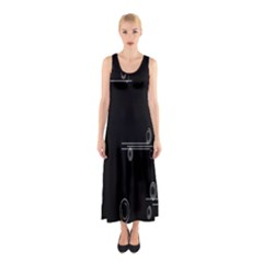 Feedback Loops Motion Graphics Piece Sleeveless Maxi Dress