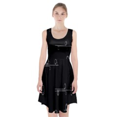 Feedback Loops Motion Graphics Piece Racerback Midi Dress