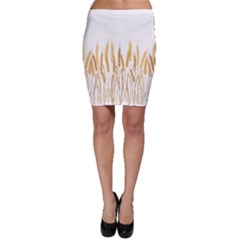 Wheat Plants Bodycon Skirt
