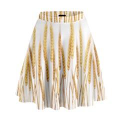 Wheat Plants High Waist Skirt