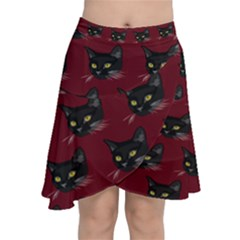 Face Cat Animals Red Chiffon Wrap
