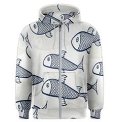 Fish Graphic Flooring Blue Seaworld Swim Water Men s Zipper Hoodie