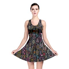 Features Illustration Reversible Skater Dress