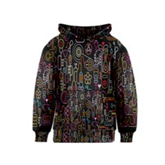 Features Illustration Kids  Pullover Hoodie