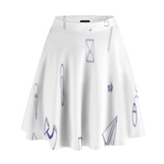 Formulas Laboratories Formulas Mathematics Chemistry Blue High Waist Skirt