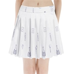 Formulas Laboratories Formulas Mathematics Chemistry Blue Pleated Mini Skirt