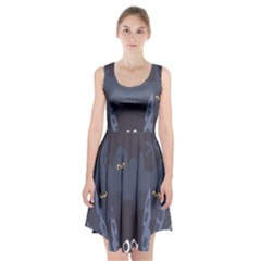 Ghost Halloween Eye Night Sinister Racerback Midi Dress