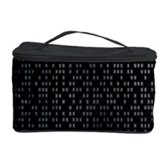 Gray Plaid Black Cosmetic Storage Case
