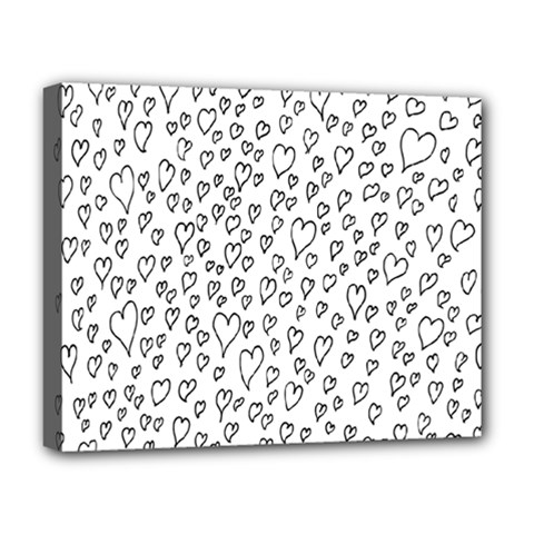 Heart Doddle Deluxe Canvas 20  X 16