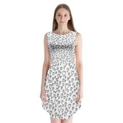 Heart Doddle Sleeveless Chiffon Dress