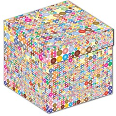 Circle Rainbow Polka Dots Storage Stool 12